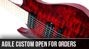 New Agile Left Handed Semi Custom Guitars Announced