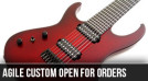 More Agile Left Handed Semi Custom Guitars Announced