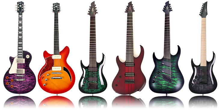 Agile Left Handed Semi Custom Guitars 2014