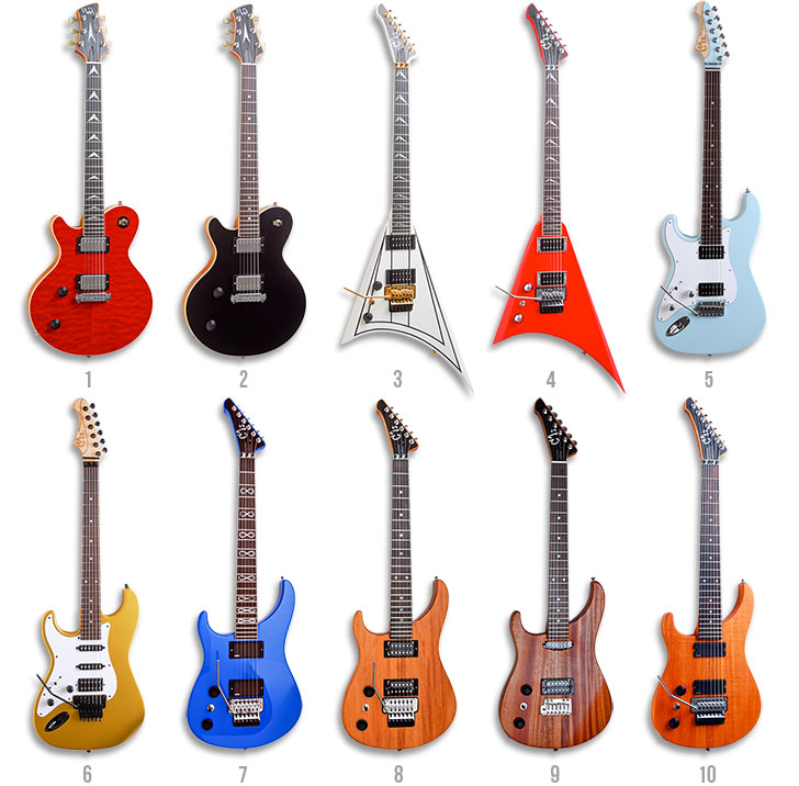 Left Handed Guitars GJ2 by Grove Jackson