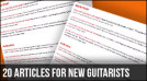 20 Articles For New Left Handed Guitarists