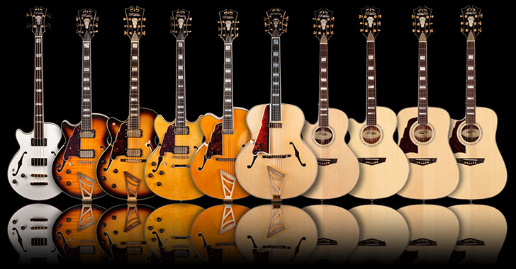 left handed d angelico guitars and basses