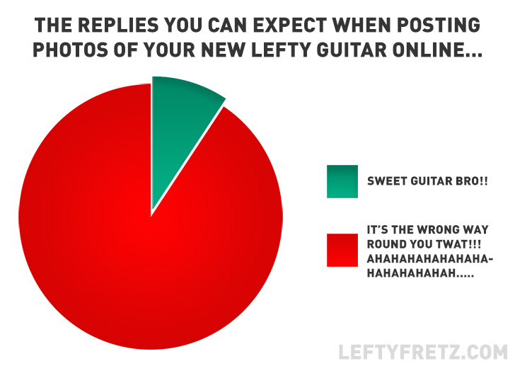 Lefty Guitar Pie Chart Graph