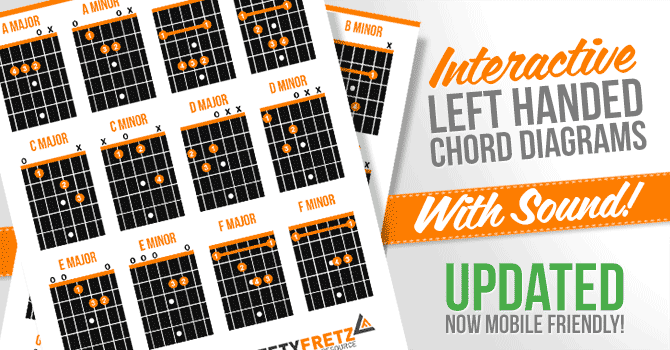 Guitar guitar chords g2 : Interactive Left Handed Guitar Chords Diagram