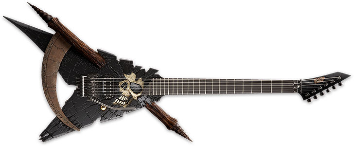 13 evil guitar designs scary guitars for halloween. Black Bedroom Furniture Sets. Home Design Ideas
