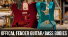 Official Fender Guitar and Bass Bodies Now Available