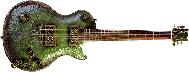 Hutchinson Nurgle Steampunk Guitar