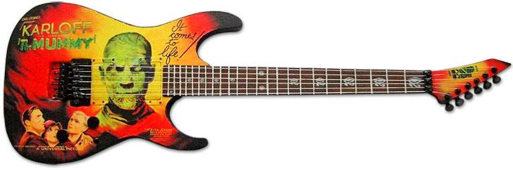 Kirk Hammett Karloff Mummy ESP Guitar Halloween