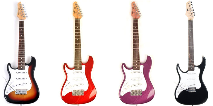 Half Sized Left Handed Electric Guitars