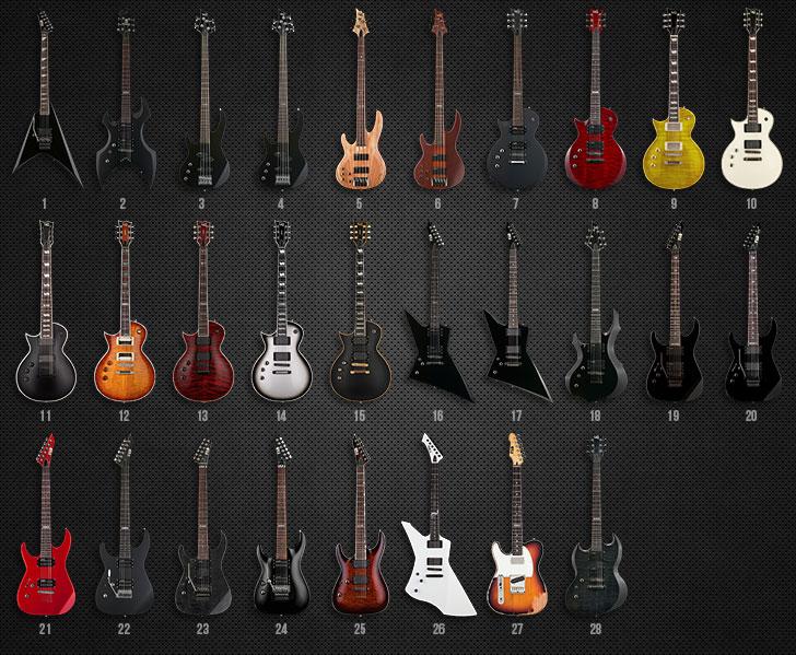 ESP Ltd Left Handed Guitars and Basses