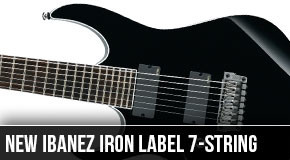 New Ibanez RGIR27FEL Iron Label 7-String