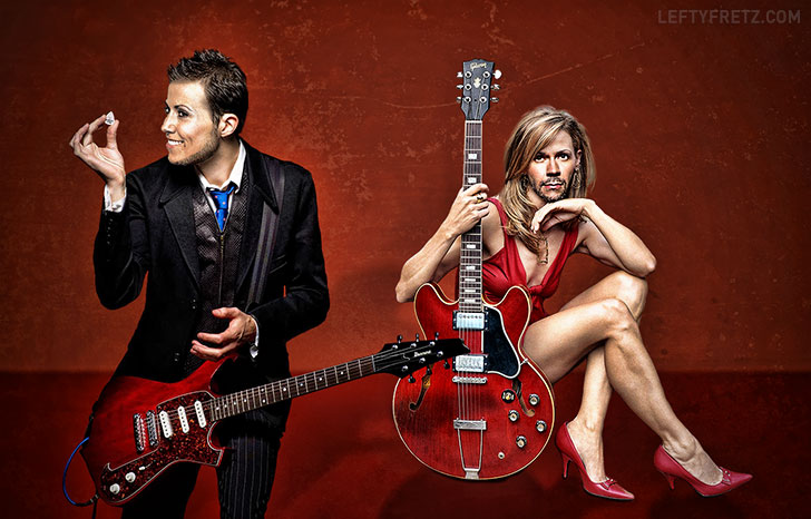 Paul Gilbert & Sheryl Crow Face Swap