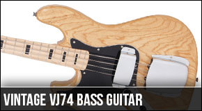 New Vintage VJ74 Left Handed Bass Guitar