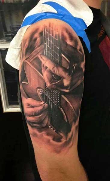 20 Kick Ass Guitar Tattoos