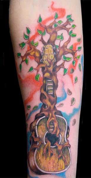 eb005d353 ... Hufschmid Guitars Tattoo, Music Tree Tattoo