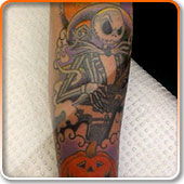 Nightmare Before Xmas Tattoo