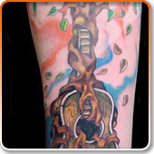 Music Tree Tattoo