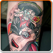 Skeleton Guitar Tattoo