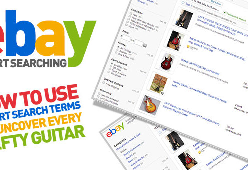 eBay Left Handed Guitar Guide