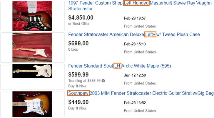 eBay Search Results for Fender
