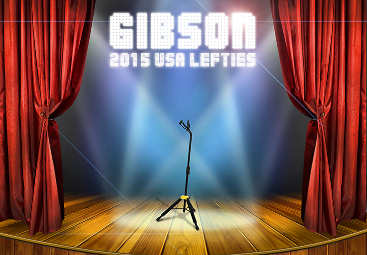 2015 Gibson USA Left Handed Guitars and Basses