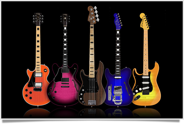 Custom Left Handed Guitar Designs