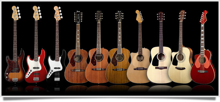 Left handed fender acoustic guitars and bass guitars 2014