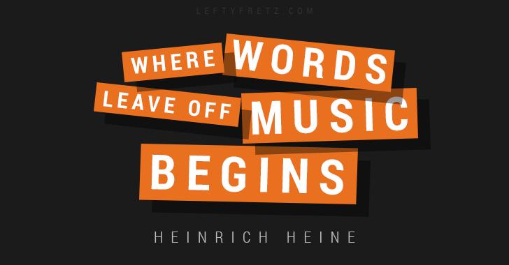 Heinrich Heine Music Quote