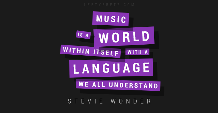 Stevie Wonder Music Quote