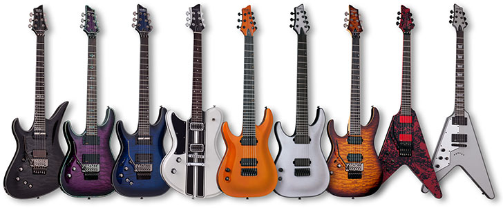 Special Run Left Handed Schecter Guitars
