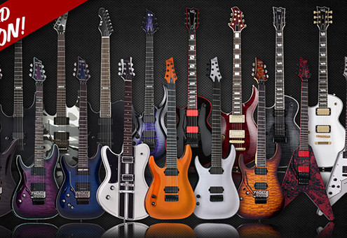 Limited Edition Left Handed ESP Schecter Guitars