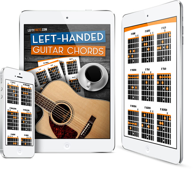 Left Handed Guitar Chord Book Learn Over 300 Chords