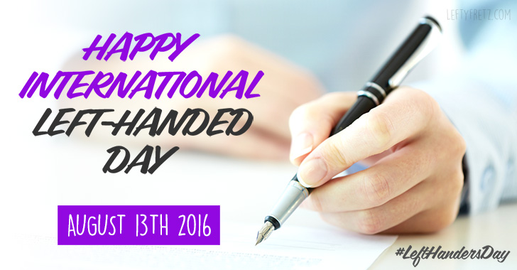National Left Handed Day 2016