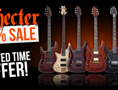 Left Handed Schecter Guitar Sale