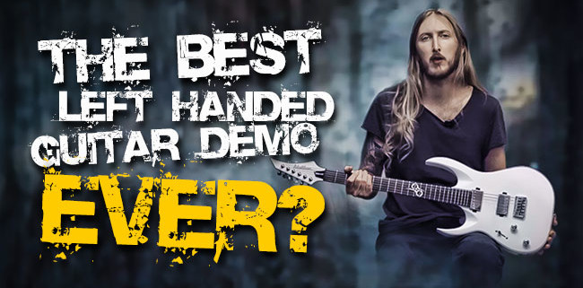 Ola Englund Left Handed Washburn Guitar Demo