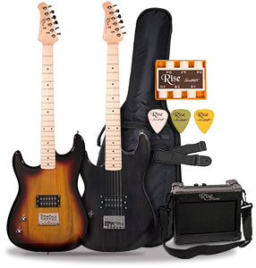 Sawtooth Rise 3/4 Size Left Handed Electric Guitar Package