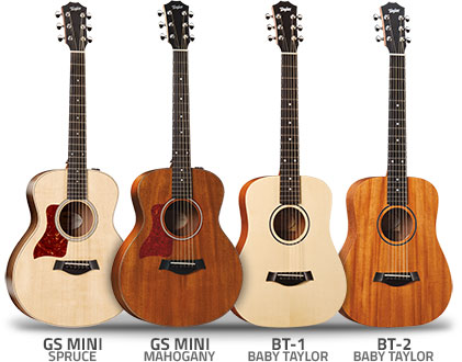 Taylor Left Handed Small Acoustic Guitars