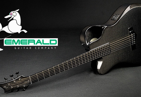 Left Handed Carbon Fiber Guitar Emerald