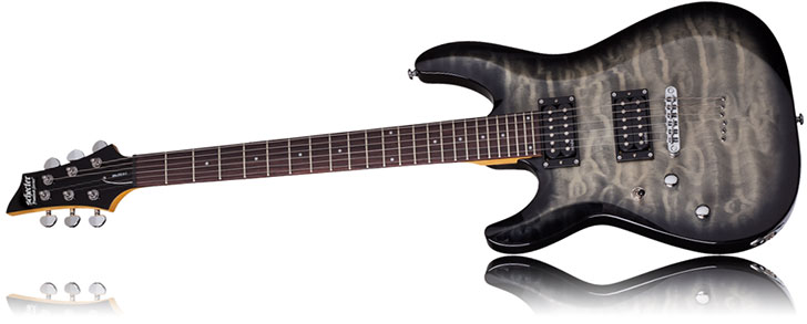 Left Handed Schecter C-6 Plus Guitar