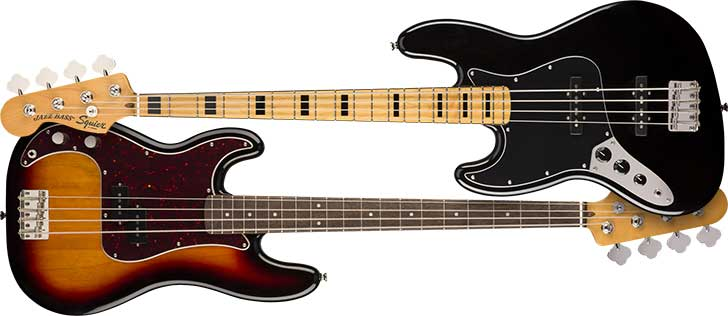 Left Handed Squier Classic Vibe Bass