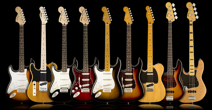 Left Handed Squier Guitar & Bass 2016