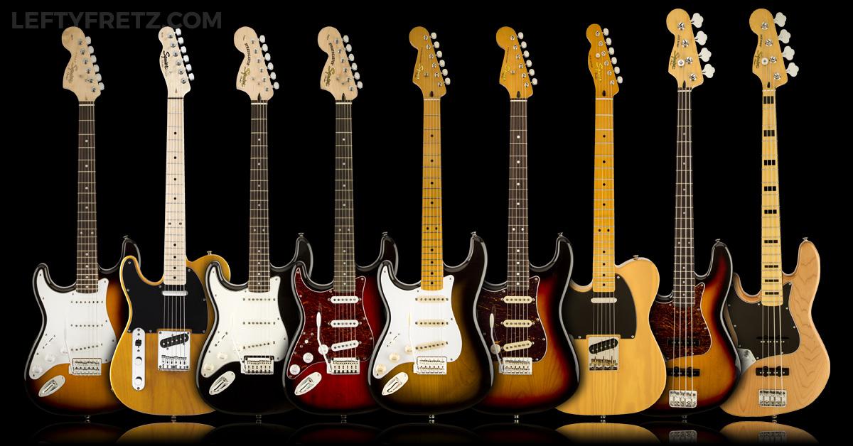 Left Handed Squier Guitar Amp Bass 2016