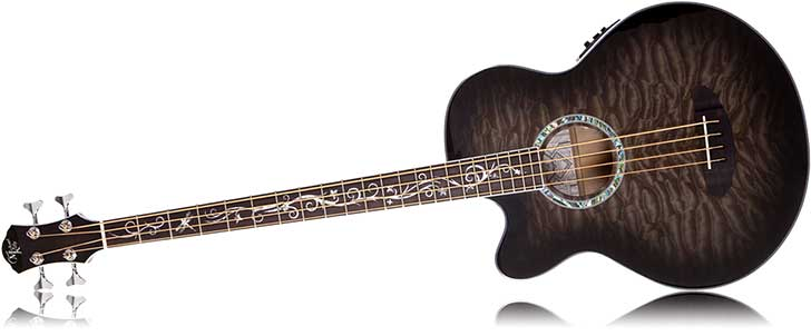 Left Handed Michael Kelly Dragonfly 4 Acoustic Bass