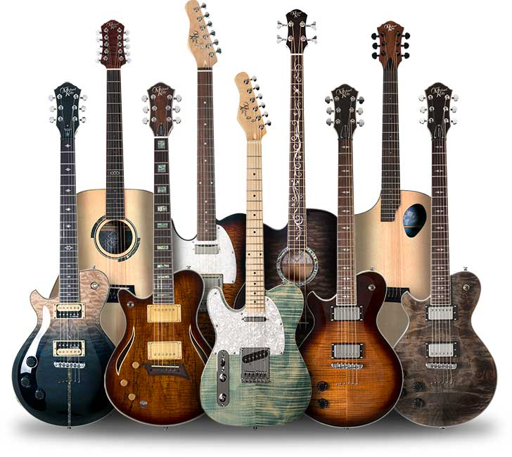 Left Handed Michael Kelly Guitars