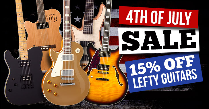 4th of July Left Handed Guitar Sale
