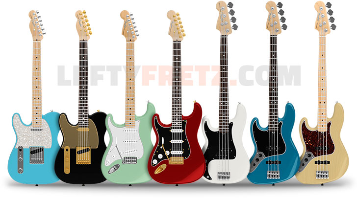 Fender Mod Shop Left Handed Guitars