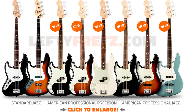 Left Handed Fender Bass Guitars 2017