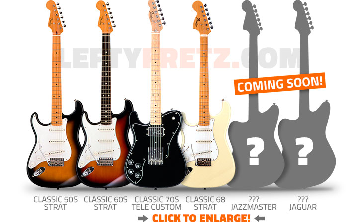 Left Handed Fender FSR Japan Guitars