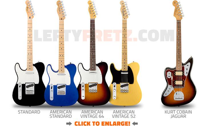 Left Handed Fender Telecaster Guitars 2016