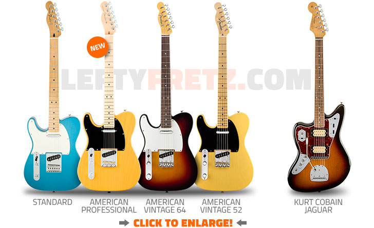 Left Handed Fender Telecaster Guitars 2017
